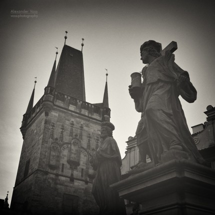 Analog Black and White Photography: Prague – Charles Bridge