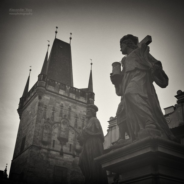 Analog Black and White Photography: Prague - Charles Bridge