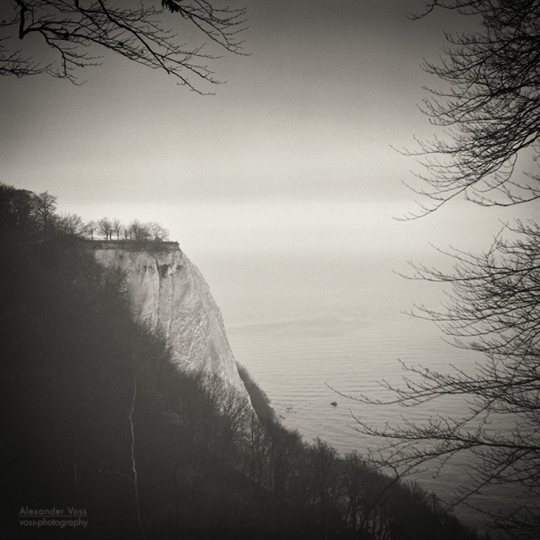 Analog Black and White Photography: Rugen Island - Königsstuhl Chalk Cliff