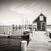 Schwarzweiss-Fotografie: Martha's Vineyard – Black Dog Wharf