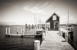 Schwarzweiss-Fotografie: Martha's Vineyard – Black Dog Wharf