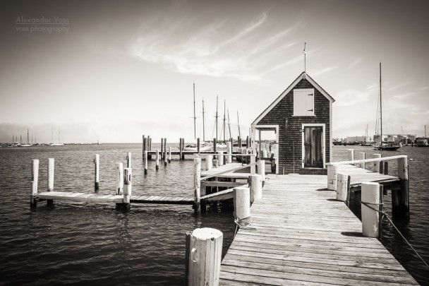 Schwarzweiss-Fotografie: Martha's Vineyard - Black Dog Wharf