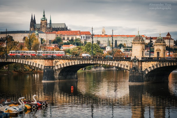 Prague - Vltava River Skyline