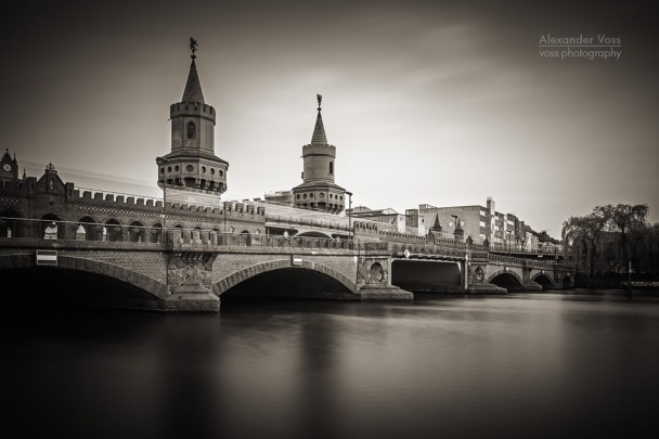 Black and White Photography: Berlin - Oberbaum Bridge