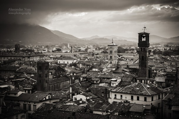 Black and White Photography: Lucca (Tuscany)