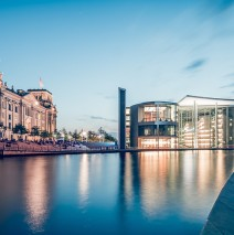 Berlin – Blue Hour Panorama / Government District