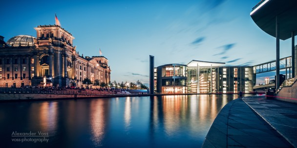 Berlin - Blue Hour Panorama / Government District