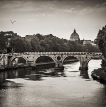 Schwarzweiss-Fotografie: Rom – Ponte Sisto
