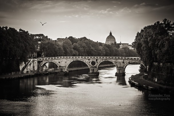 Schwarzweiss-Fotografie: Rom - Ponte Sisto