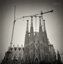 Analog Black and White Photography: Barcelona – Sagrada Familia