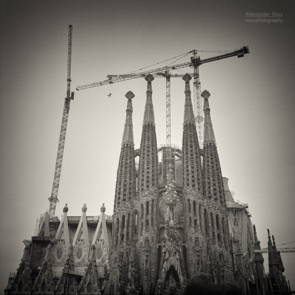 Analog Black and White Photography: Barcelona - Sagrada Familia