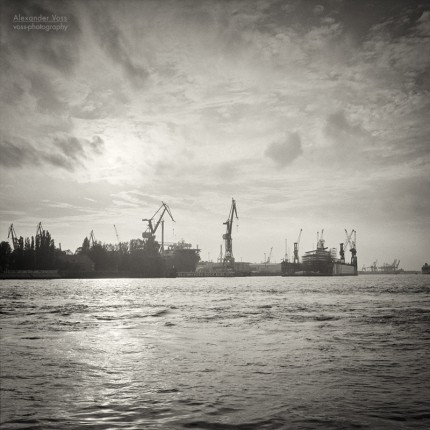 Analog Black and White Photography: Hamburg Harbour