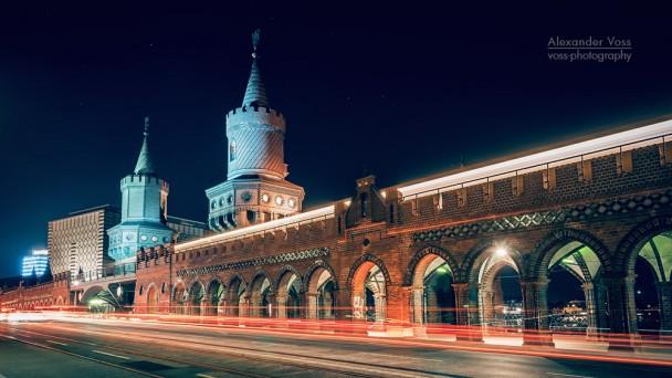 Berlin bei Nacht - Oberbaumbrücke