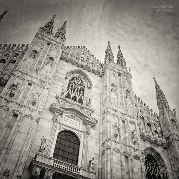 Analog Black and White Photography: Milan Cathedral