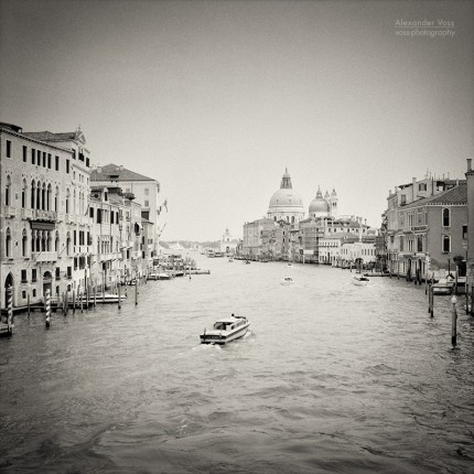 Analog Black and White Photography: Venice – Canal Grande