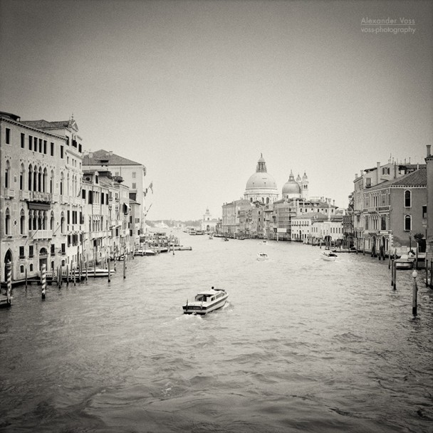 Analog Black and White Photography: Venice - Canal Grande