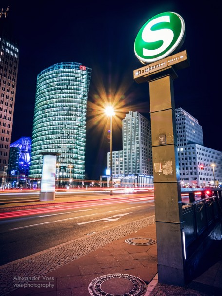 Berlin - Potsdamer Platz Square at Night