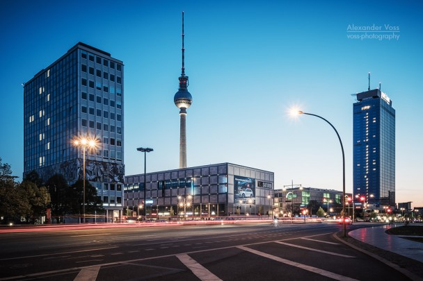 Blue Hour in Berlin: Alexanderplatz Square
