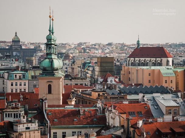 Prag - Skyline / St.-Gallus-Kirche