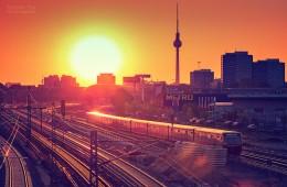 Berlin – Skyline im Sonnenuntergang