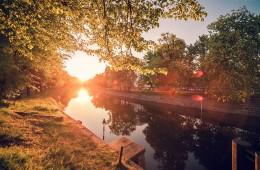 Berlin – Sonnenuntergang am Landwehrkanal