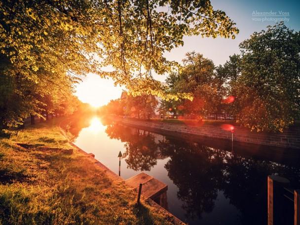 Berlin - Sonnenuntergang am Landwehrkanal