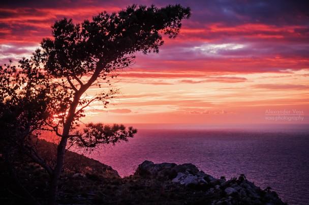Mallorca - Sonnenuntergang in der Serra de Tramuntana