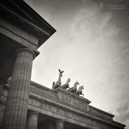 Analog Black and White Photography: Berlin – Brandenburg Gate