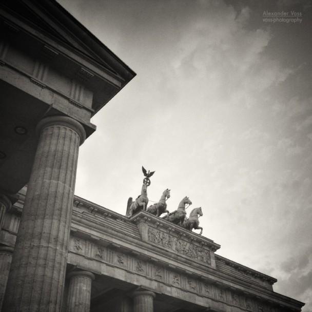 Analog Black and White Photography: Berlin - Brandenburg Gate