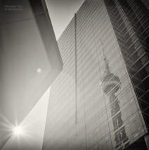 Analoge Schwarzweiss-Fotografie: Toronto – CN Tower