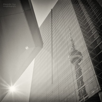 Analog Black and White Photography: Toronto – CN Tower