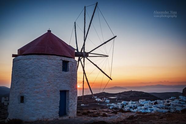 Amorgos - Windmühlen von Chora