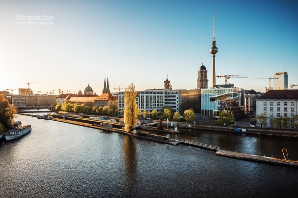 Berlin - Skyline at Spree River