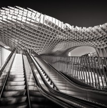 Black and White Photography: Metropol Parasol, Seville