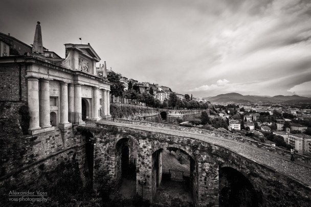 Black and White Photography: Bergamo - Porta San Giacomo