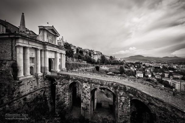 Black and White Photography: Bergamo - Porta San Giacomo