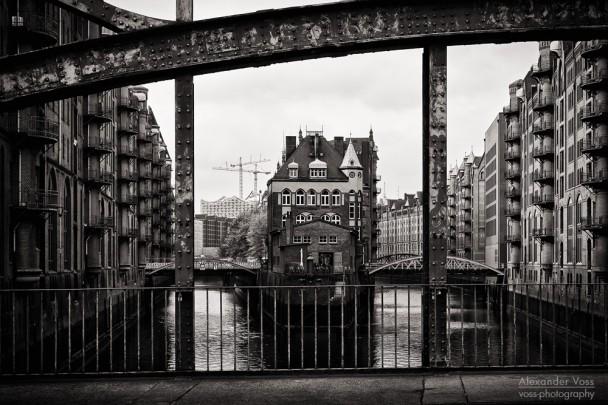 Schwarzweiss-Fotografie: Hamburg - Speicherstadt
