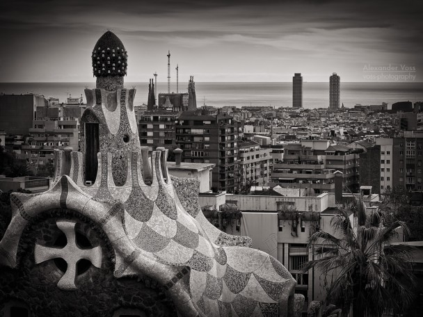 Black and White Photography: Barcelona Skyline