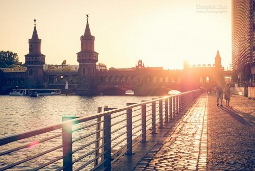 Berlin – Spree Riverside at Oberbaum Bridge