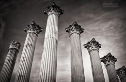 Schwarzweiss-Fotografie: Córdoba – Templo Romano