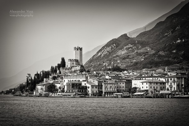 Black and White Photography: Malcesine - Lake Garda