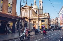 Mailand – Via Torino / Chiesa San Giorgio