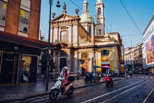 Mailand - Via Torino / Chiesa San Giorgio