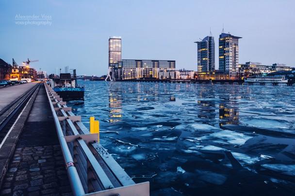 Berlin - Osthafen in Winter