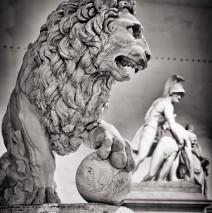 Schwarzweiss-Fotografie: Florenz – Loggia dei Lanzi