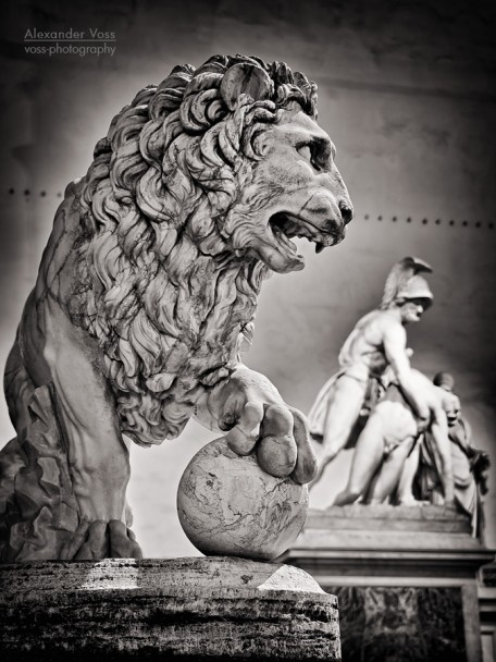 Schwarzweiss-Fotografie: Florenz - Loggia dei Lanzi