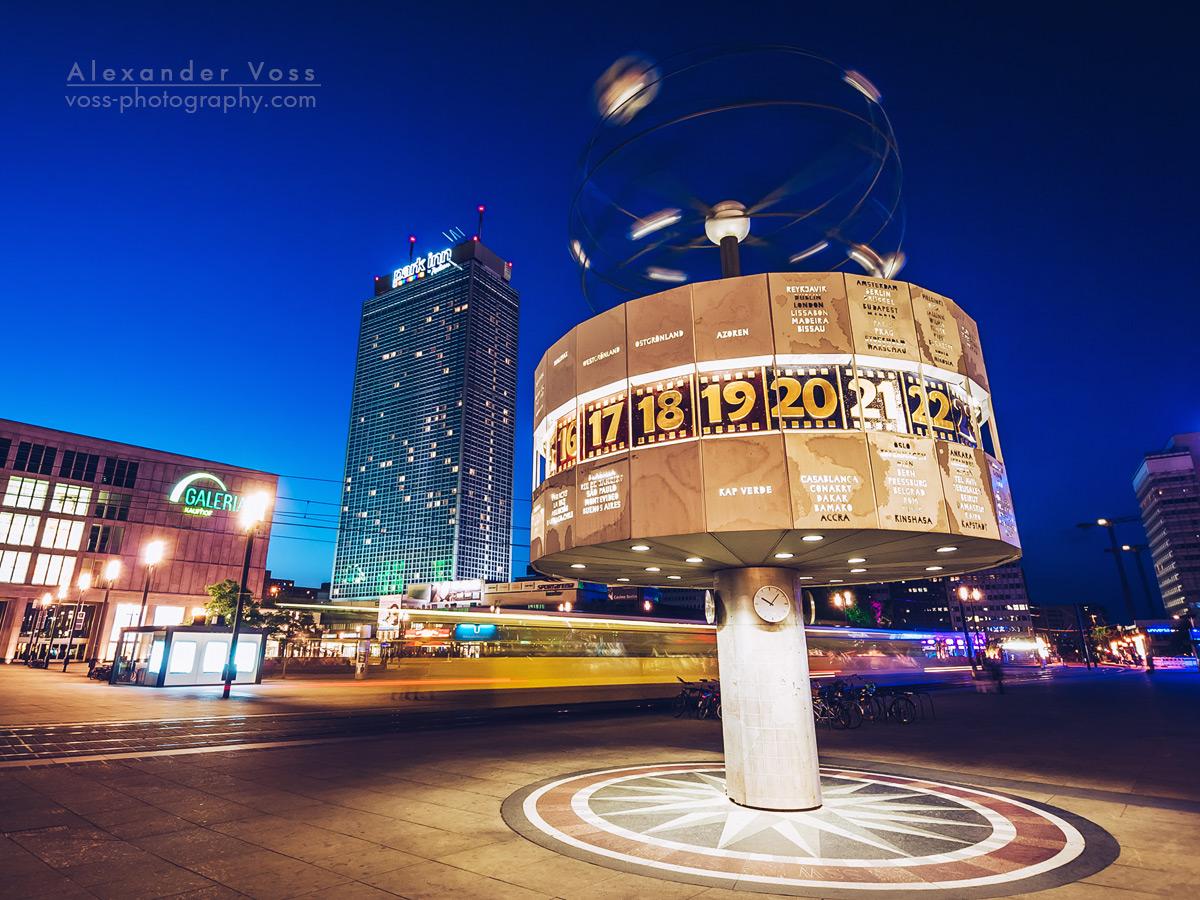 The World Clock on Berlin Alexanderplatz