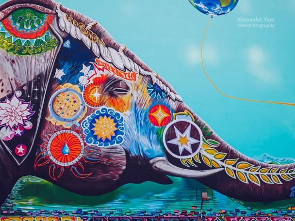 Berlin - Elephant Mural