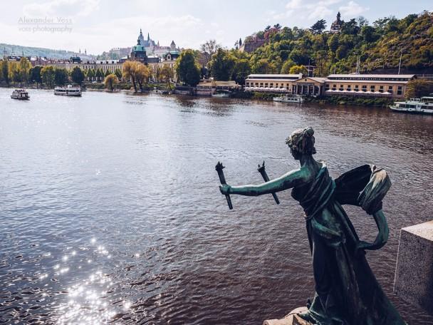 Prag - Moldau / Čechův most