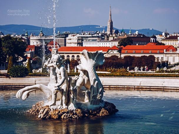 Wien - Schloss Belvedere / Schlossgarten